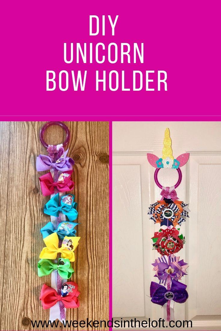 Diy Unicorn Bow Holder Bow Holder Diy Bow Holder Bows