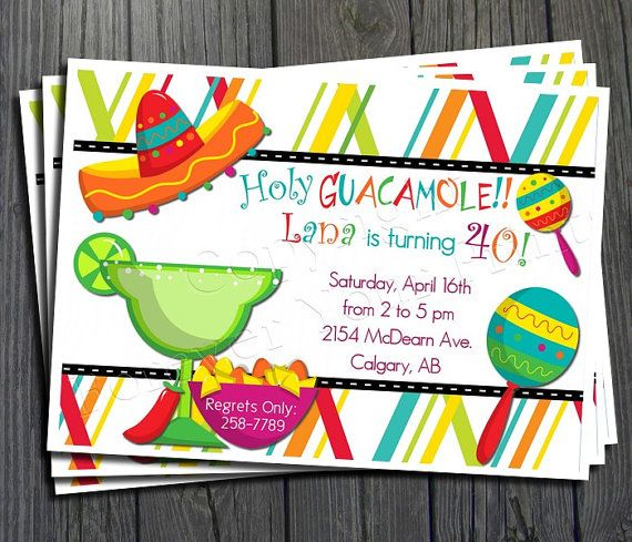 Mexican Fiesta Invitation  FREE Thank You by ForeverYourPrints, $15.00