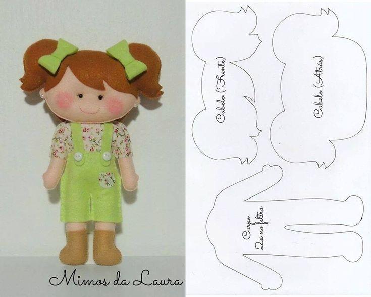 cute little felt doll...