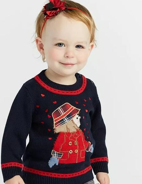 bbfe962beb4ff Baby Girls Fashion Boutique Navy Knitted Sweater   Fancy Christmas children  outfits   Baby girl fashion, Sweaters, Baby sweaters