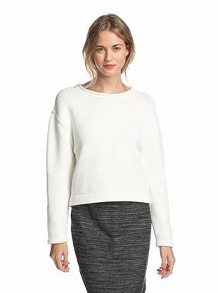 39% OFF Kate Spade Saturday Women's Oversized Cropped Sweater (White)