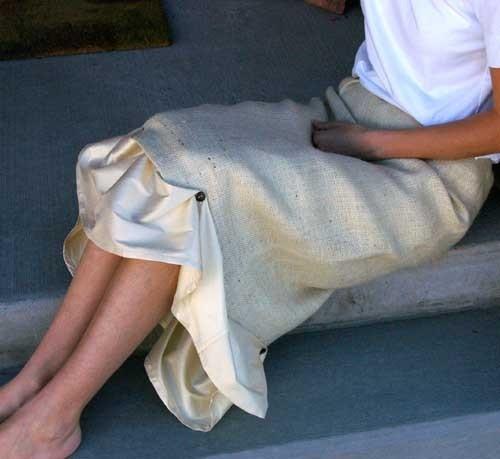 Burlap and Silk Skirt