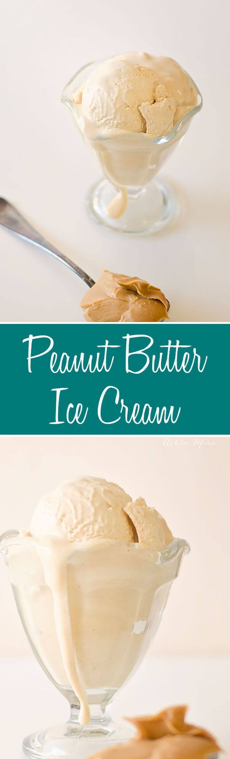Peanut Butter Ice Cream Recipe. this creamy peanut butter ice cream is always a huge hit. I get requests for it all the time. #PBicecream