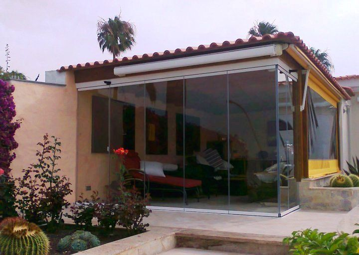 26 best porches de cristal images on pinterest blinds - Cubiertas de terrazas ...