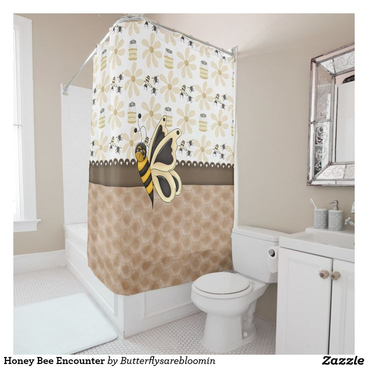 Honey Bee Encounter Shower Curtain