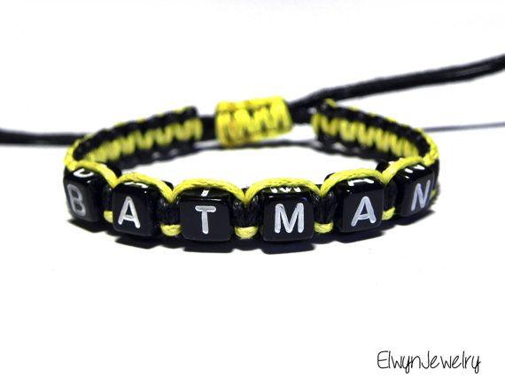 Batman Bracelet Batman Jewelry Batman Inspired by ElwynJewelry