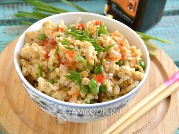 Фото риса с яйцом по-китайски