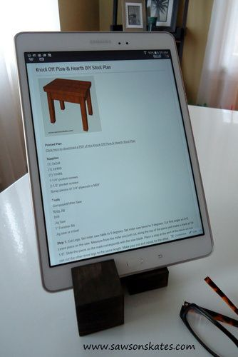 Cool Tablet holder. Great for holding your tablet in the kitchen while you use it for recipes.