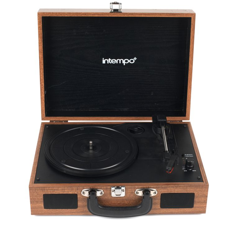 Intempo Wooden Record player