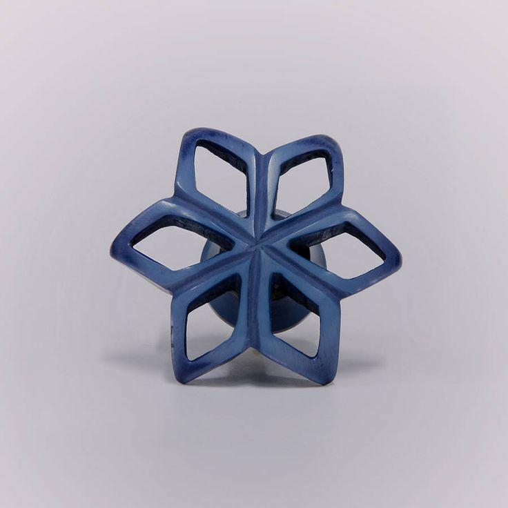 acrylic star flower knob by trinca-ferro | notonthehighstreet.com