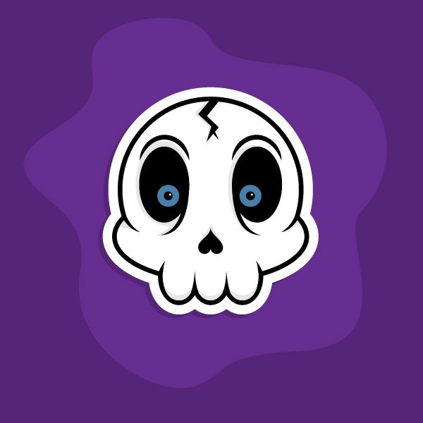 Create a Cartoon Skull Sticker in Illustrator