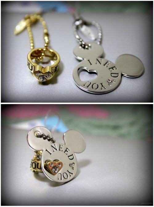 Mickey Mouse necklace & ring! Just too cute.