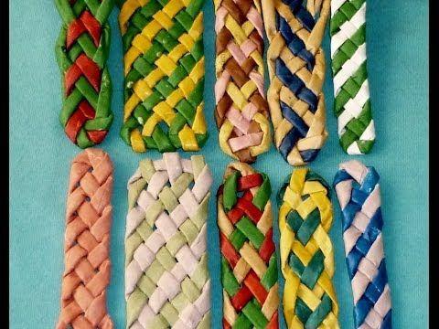 Плетение полосок из трубочек - Часть 2 / Weave the strips of paper tubes - Part 1 - YouTube