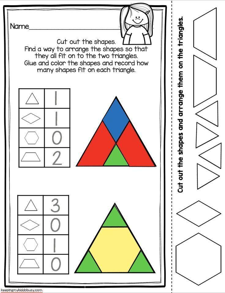 Centers Of Triangles Worksheet Kindergarten Geometry Unit Freebies Kindergarten Geometry Shapes Kindergarten Geometry Worksheets