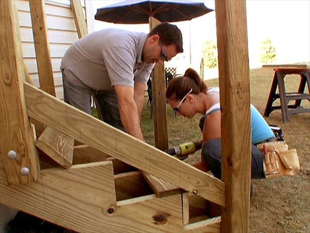 how to build an exterior stairs