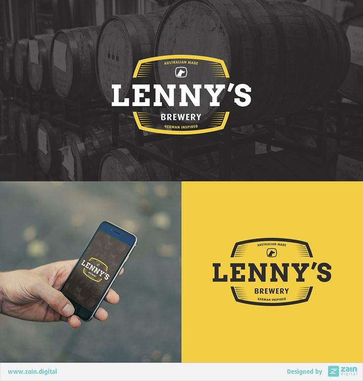 Logo & branding work we did for Lenny's Brewery. Look out for these German inspired beers in the South Eastern suburbs. #lennysbrewery #logo #branding #beerlabel #brewery #marketing #beer #alcohol #germanbeer #australianmade #brand #logodesign