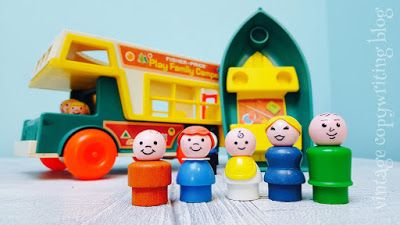 Vintage Copywriting Blog: Introducing the 1970s Fisher Price Play Family Camper, with rufty-tufty, chunky plastic in a soft, satin finish. #FisherPrice
