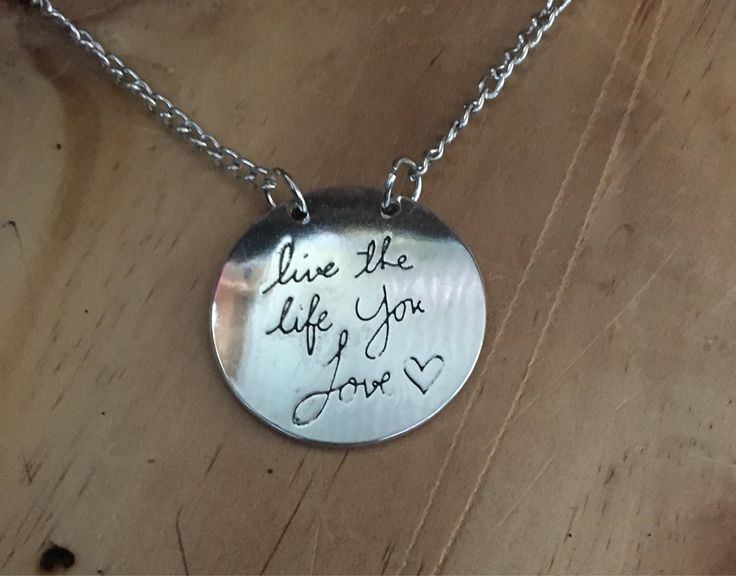 A personal favourite from my Etsy shop https://www.etsy.com/au/listing/532854634/live-the-life-you-love-pendant-with-60cm
