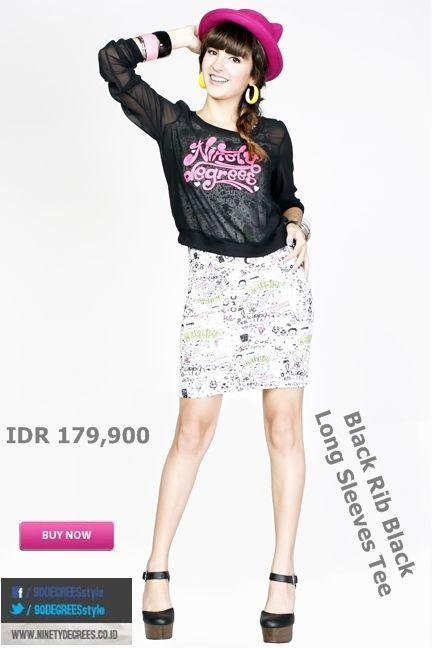 Looking cute dengan Long Sleeves Tee ini Girls Cuma IDR 134,925. >> http://ow.ly/ufu0i