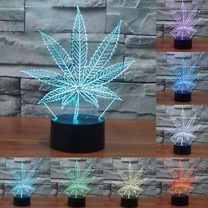 Acrylic Maple Leaf 3D Night Light 7 Colors change USB Lamp Crystal Touch sensor  Nightlight Leaf Shaped for Home Decor IY803610  #AcrylicLeaf #MapleLeaf #3DNightLight #7Colors #changeUSB #LampCrystal #Touchsensor  #NightlightLeaf #HomeDecor #ebay