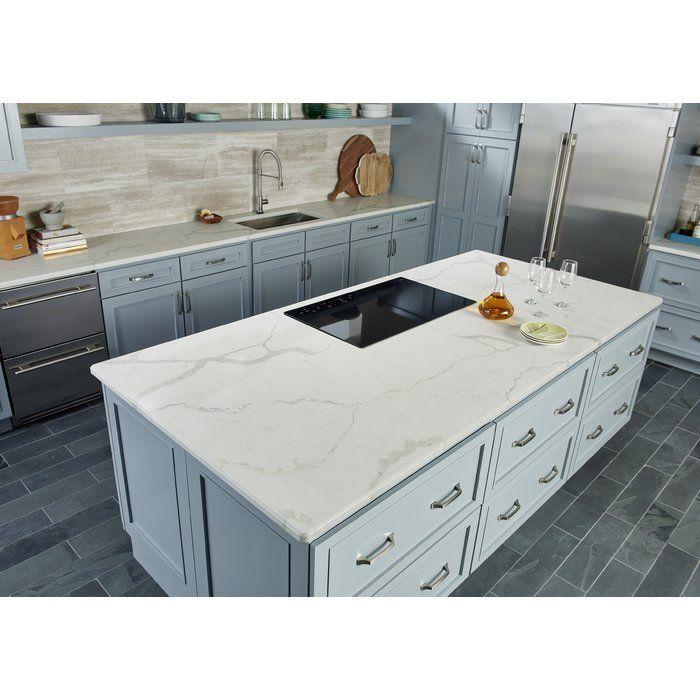 Montauk 6 X 24 Slate Field Tile In Black Quartz Kitchen