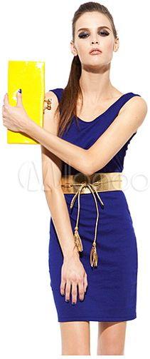 #Milanoo.com Ltd          #Mini Dresses             #Sexy #Royal #Blue #Backless #Twisted #Scoop #Neck #Polyester #Mini #Dress    Sexy Royal Blue Backless Twisted Scoop Neck Polyester Mini Dress                                        http://www.snaproduct.com/product.aspx?PID=5757770