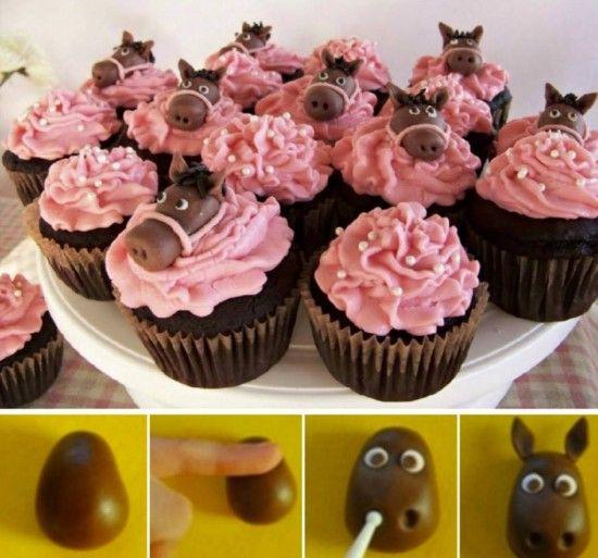 Cupcake fondant Horses Tutorial