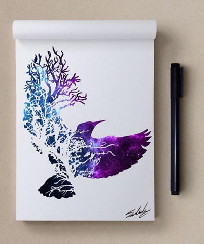 Artworks by Muhammed Salah ...modify this sort of design as a Phoenix tattoo.