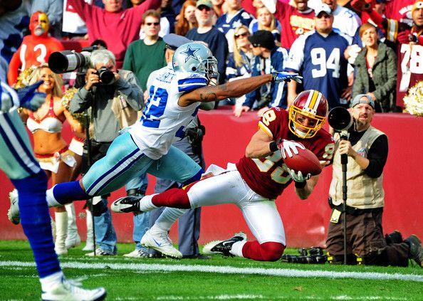 Orlando Scandrick Photos Photos - David Anderson #88 of the Washington Redskins makes a catch against Orlando Scandrick #32 of the Dallas Cowboys at FedEx Field on November 20, 2011 in Landover, Maryland. - Dallas Cowboys v Washington Redskins