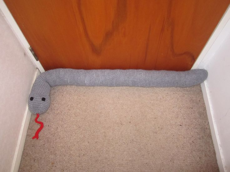Here is our snake turned into a draught excluder!