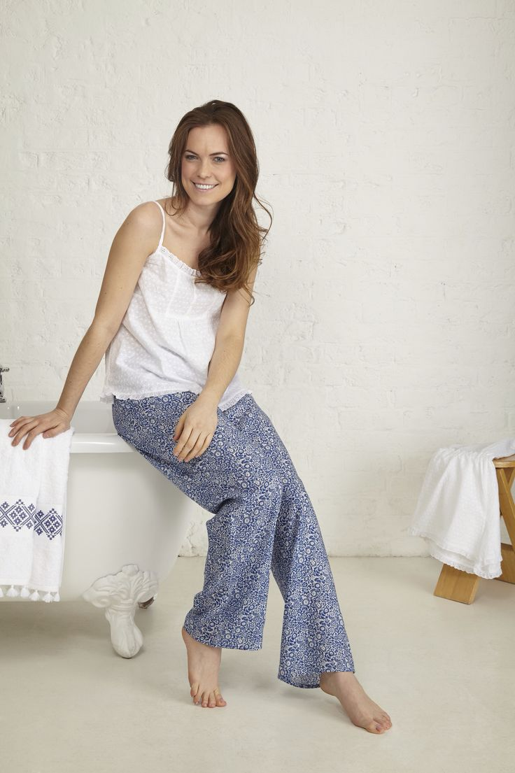 Santorini broderie cami and print trousers https://www.wildgeeselondon.com/product-category/santorini/