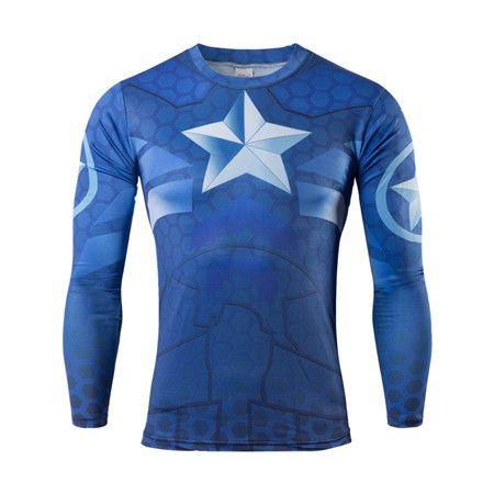 Superman 3D Digital Printing Mens Fitness t shirts High Quality