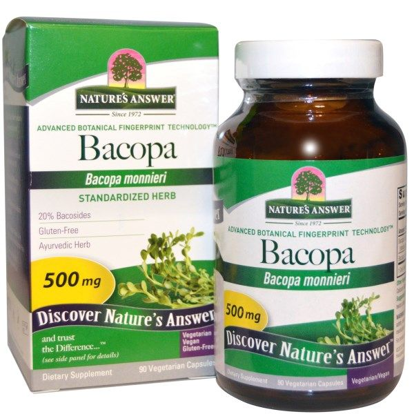 Nature's Answer, バコパ, 500 mg, 90 ベジタリアンカプセル