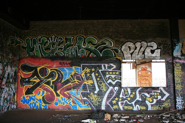 Old factory area in Pispala filled with graffiti