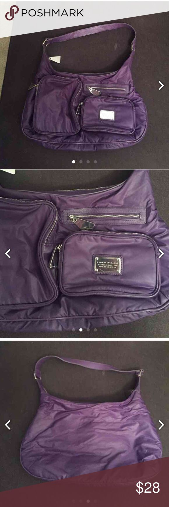"""Like new Armani exchange purse Only used a few times. 16 x 9"""" A/X Armani Exchange Bags Shoulder Bags"""
