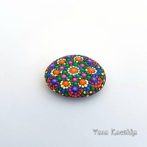 Free shipping mandala stone by Yana Kaechka. This one is very comfortable as pocket size gratitude stone  Check out this item in my Etsy shop https://www.etsy.com/listing/557567434/free-shipping-hand-painted-mandala-stone #mandalartKaechka #mandala #mandalastones #gratitudestone