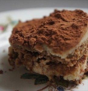 Tiramisu (zonder suiker, zuivel, tarwe, gluten)