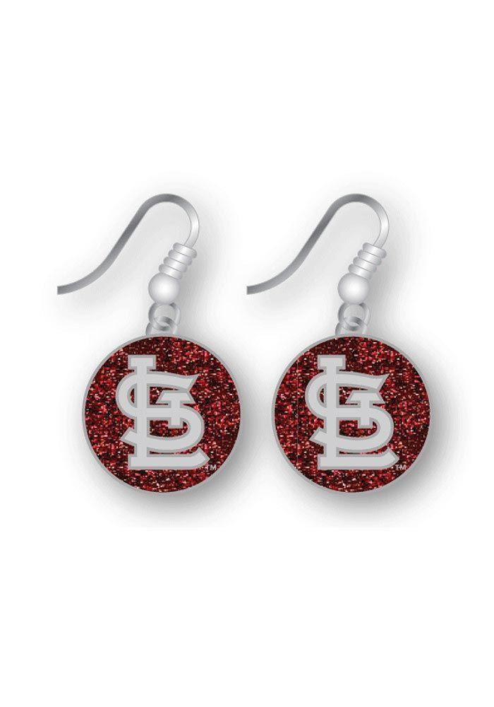 St. Louis Cardinals Cap Logo Glitter Dangler Earrings http://www.rallyhouse.com/shop/st-louis-cardinals-st-louis-cardinals-cap-logo-glitter-dangler-earrings-91292 $7.99