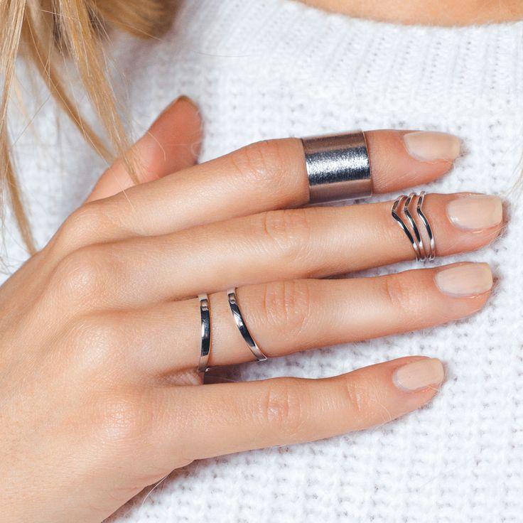 Комплект из 3 колец на фаланги пальцев