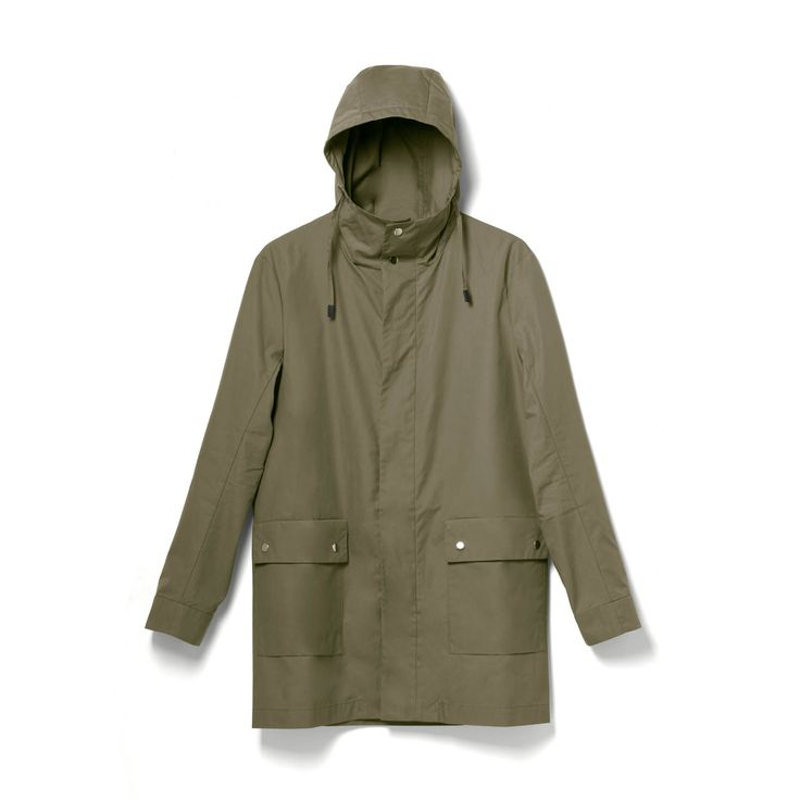 QWSTION + D.N.S. ALL WEATHER COAT – ORGANIC OLIVE – available in the QWSTION invites stores Zurich and Vienna #questionthenorm