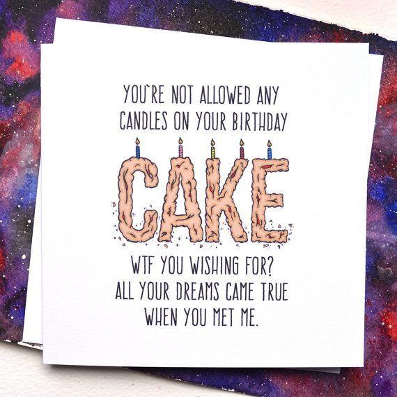 Funny Boyfriend Or Girlfriend Birthday Card WTF By Phillyandbrit Girlfriendbirthdaygifts