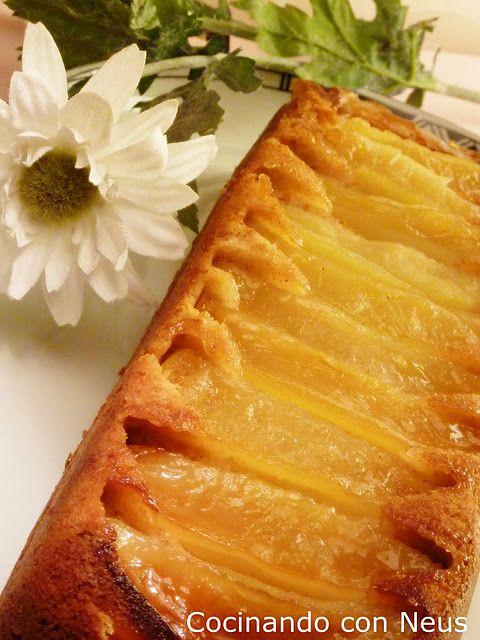 Cocinando con Neus: Bizcocho de manzana invertido