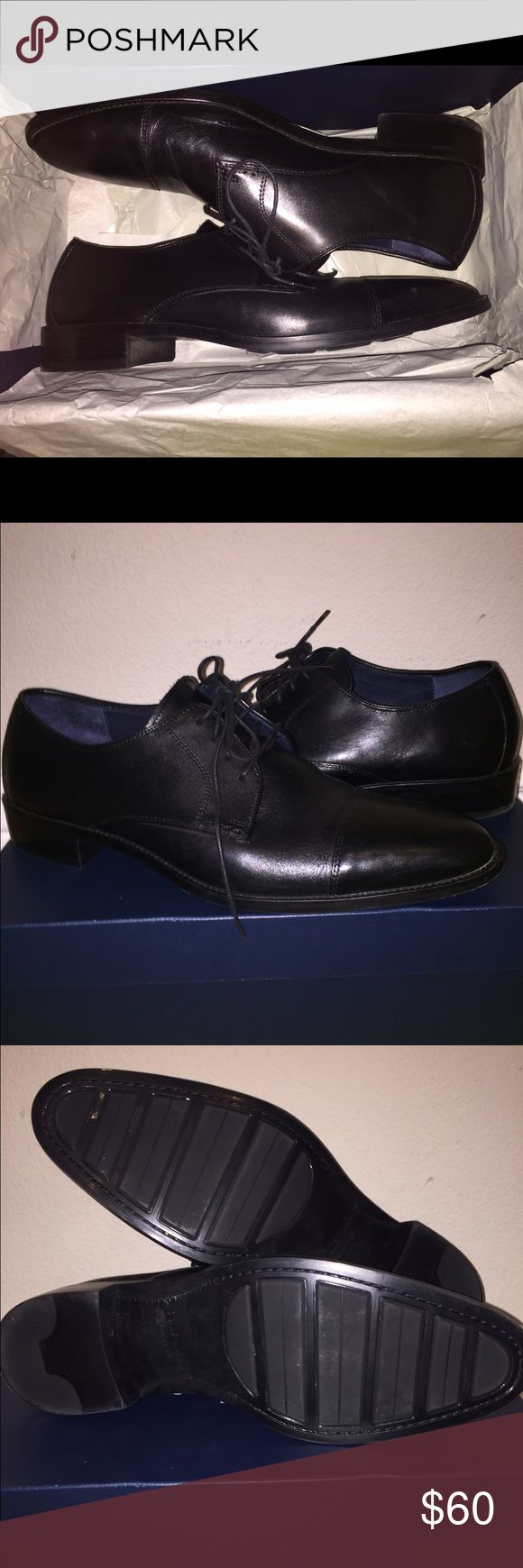 Cole Haan dress shoes loafers lace up black Cole Haan dress shoes worn 1x for an event never worn again!!! Cole Haan Shoes Oxfords & Derbys