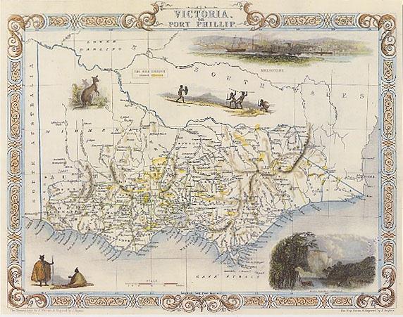 1800's Map Victoria australia