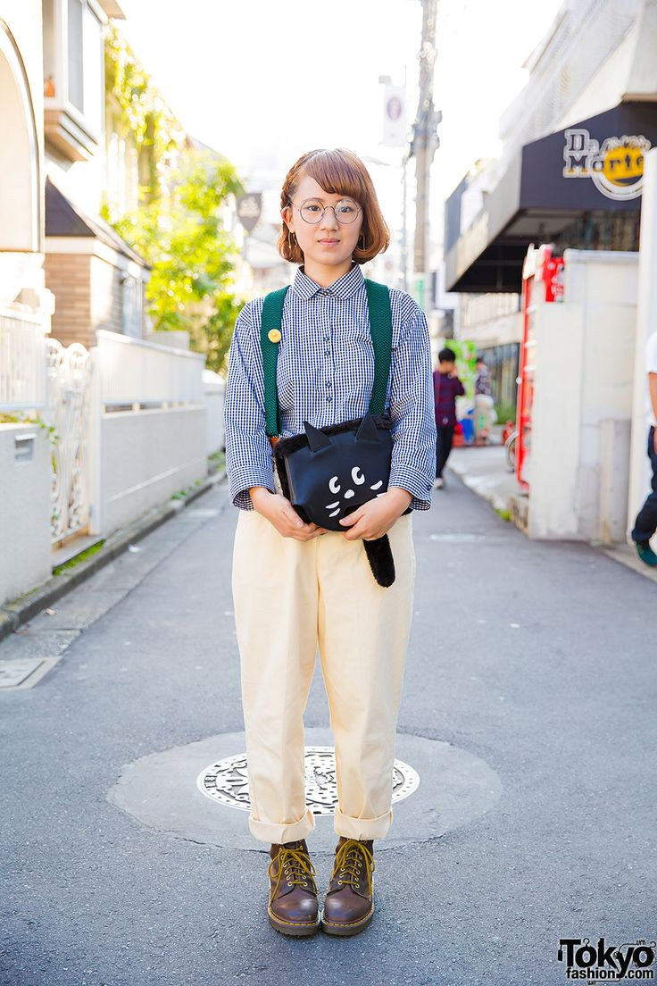 SUPER CUTE, especially the cat bag & the partially braided hair ... Miho…