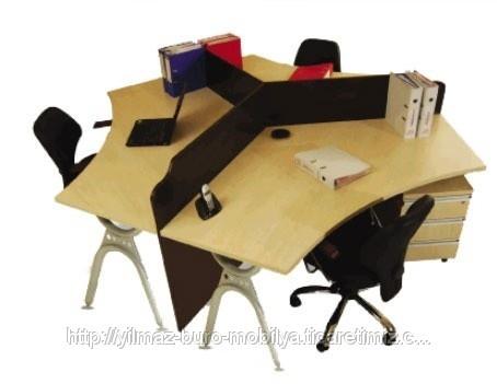 Üçlü Personel Çalışma Masası