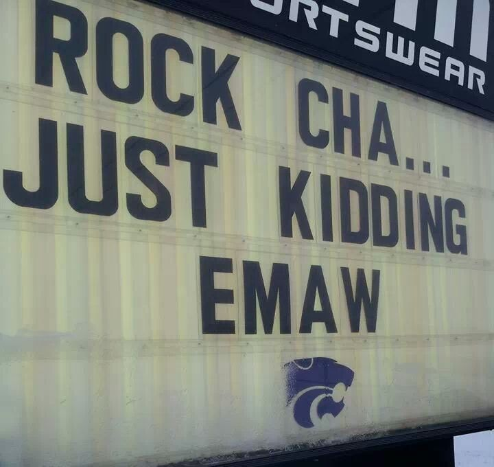 The Marquee outside of K-State Super Store! #EMAW