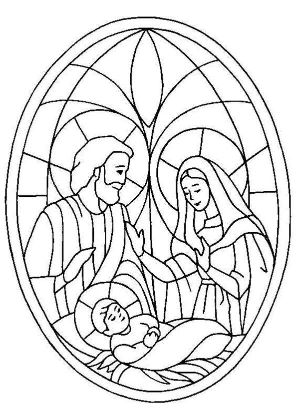 Jozef en Maria en het kindje Jezus