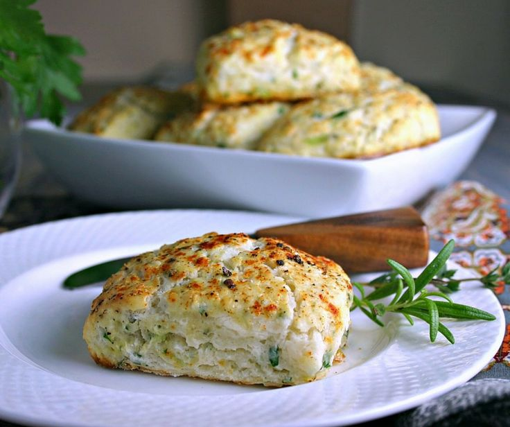 Savory Ricotta Scones. A light and fluffy savory scone that is perfect for breakfast, brunch, or served in place of dinner rolls.