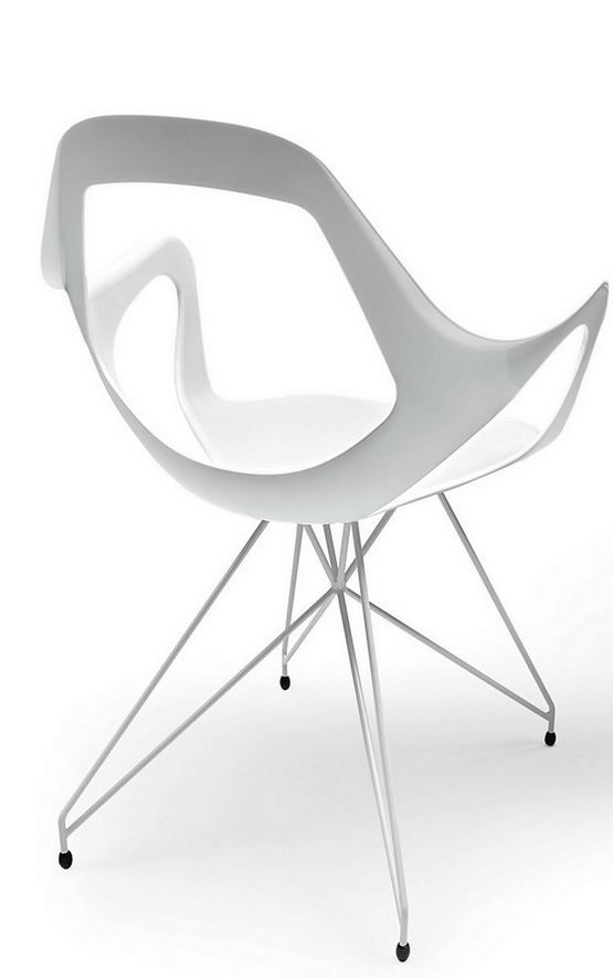 Technopolymer easy chair Dafne 163 by  @metalmobil